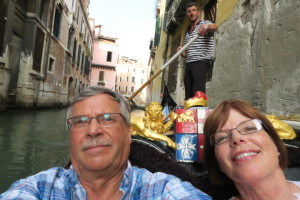 Gondola ride, with Gerda's goodlooking gondolier