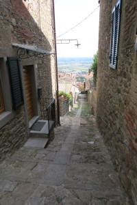 The private entry to our rental (VRBO) in Cortona