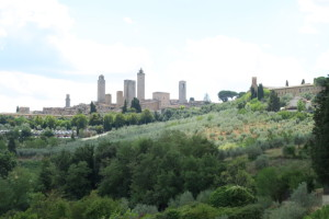 San Gimignano from a distance.
