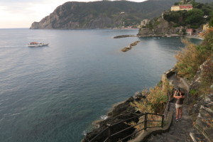 Trail leading back to Monterosso
