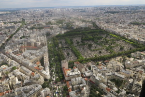Cemetery from 56th floor Montparnasse tower