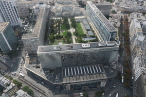 Train station from 56th floor Montparnasse tower