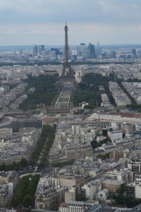 Eiffel Tower from 56th floor Montparnasse tower